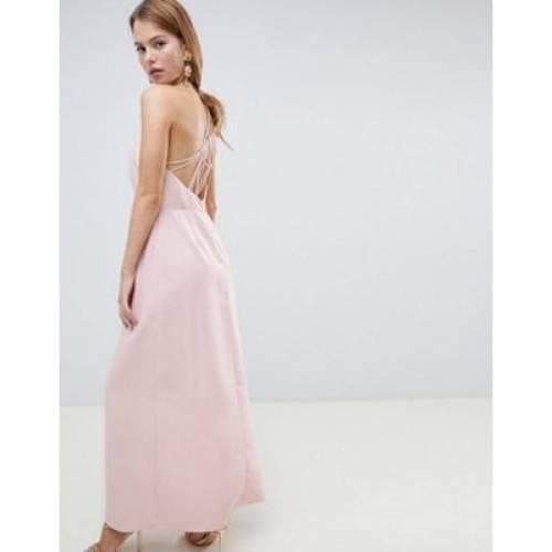 ドレス レディースファッション ワンピース 【 ASOS DESIGN OPEN BACK MAXI DRESS 】