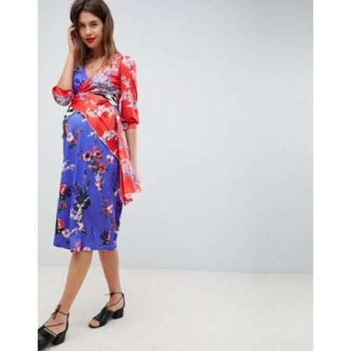 ドレス レディースファッション ワンピース 【 ASOS DESIGN MATERNITY MIXED PRINT TROPHY DRESS 】