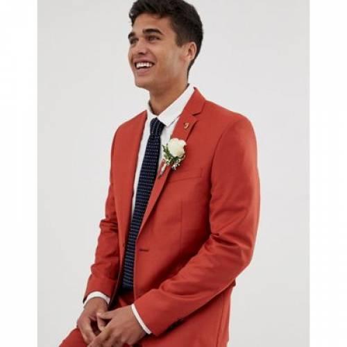 赤 レッド メンズファッション コート ジャケット 【 RED FARAH HENDERSON SKINNY FIT SUIT JACKET IN 】 ※セットアップではありません