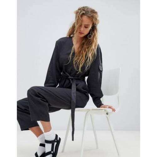 GRAY灰色 グレイ レディースファッション オールインワン サロペット 【 GREY WEEKDAY POCKET DETAIL UTILITY JUMPSUIT IN 】