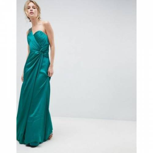 ドレス レディースファッション ワンピース 【 LITTLE MISTRESS ONE SHOULDER MAXI DRESS WITH RUCHED DETAIL 】