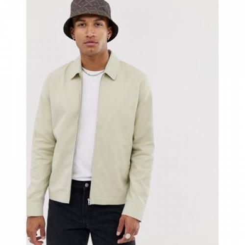 メンズファッション コート ジャケット 【 ASOS DESIGN HARRINGTON JACKET IN STONE 】