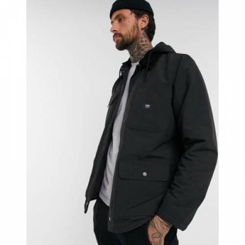 バンズ 黒 ブラック メンズファッション コート ジャケット 【 VANS BLACK MTE DRILL CHORE JACKET IN 】