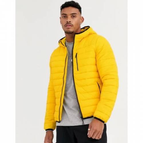 黄色 イエロー メンズファッション コート ジャケット 【 YELLOW BERSHKA PUFFER JACKET IN 】