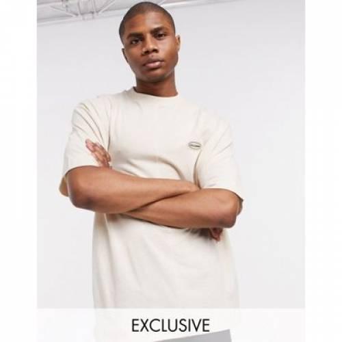 Tシャツ メンズファッション トップス カットソー 【 COLLUSION BRANDED TSHIRT IN STONE 】