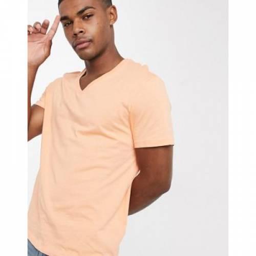 Tシャツ メンズファッション トップス カットソー 【 ASOS DESIGN TSHIRT WITH V NECK IN 】