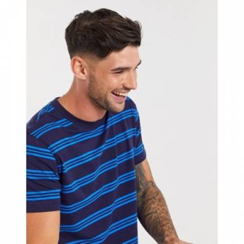 ロゴ ストライプ Tシャツ メンズファッション トップス カットソー 【 STRIPE CALVIN KLEIN JEANS CHEST LOGO REGULAR TSHIRT 】