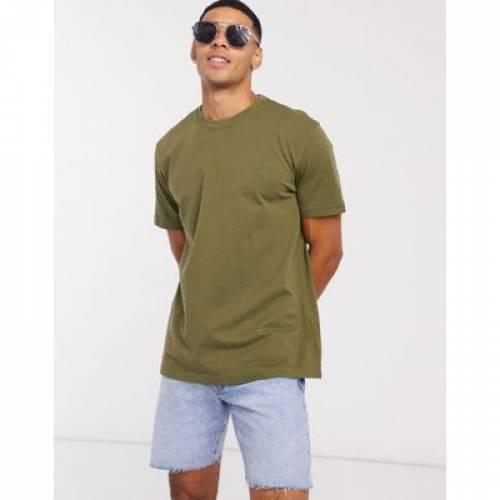 アイコン ロゴ クルー Tシャツ 緑 グリーン メンズファッション トップス カットソー 【 GREEN AMERICAN EAGLE ICON LOGO CREW NECK TSHIRT IN 】