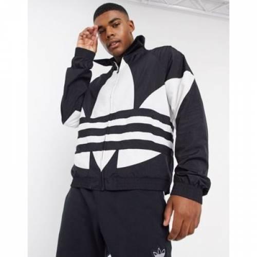 ロゴ トラック 黒 ブラック メンズファッション コート ジャケット 【 BLACK ADIDAS ORIGINALS BIG LOGO TRACK JACKET IN 】