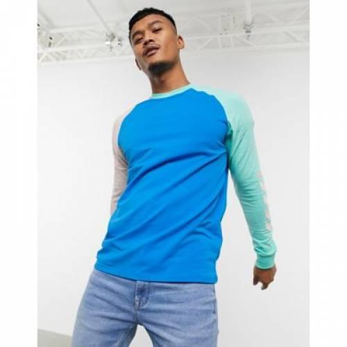 スリーブ Tシャツ 青 ブルー メンズファッション トップス カットソー 【 SLEEVE BLUE HUMMEL HIVE LONG TSHIRT IN 】
