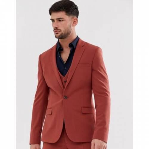 メンズファッション コート ジャケット 【 ASOS DESIGN SUPER SKINNY SUIT JACKET IN BURNT HENNA 】 ※セットアップではありません