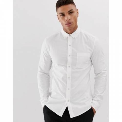 オックスフォード 白 ホワイト メンズファッション トップス 【 WHITE TOPMAN OXFORD SHIRT IN 】