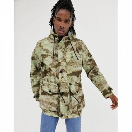 メンズファッション コート ジャケット 【 ASOS DESIGN LIGHTWEIGHT PARKA JACKET IN CAMO PRINT 】