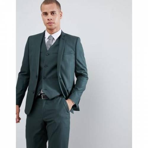 スリム フォレスト 緑 グリーン メンズファッション コート ジャケット 【 SLIM GREEN ASOS DESIGN SUIT JACKET IN FOREST 】 ※セットアップではありません