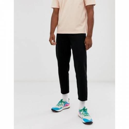 白 ホワイト 黒 ブラック デニム メンズファッション ズボン パンツ 【 WHITE BLACK ASOS TALL TAPERED CROPPED JEANS IN 14 OZ DENIM 】