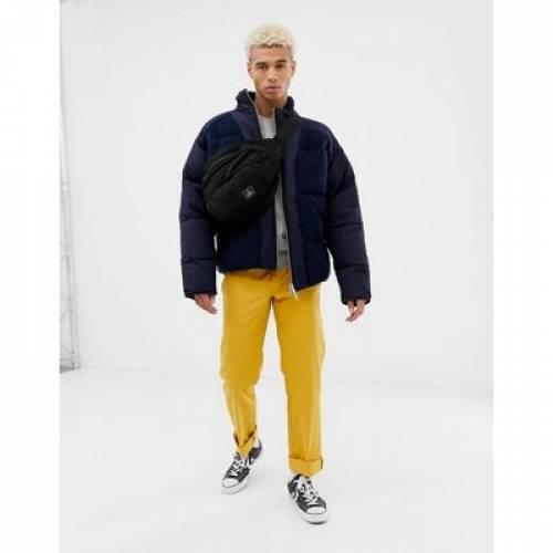 紺 ネイビー メンズファッション コート ジャケット 【 NAVY ASOS DESIGN PUFFER JACKET WITH BONDED TEDDY PANEL IN 】