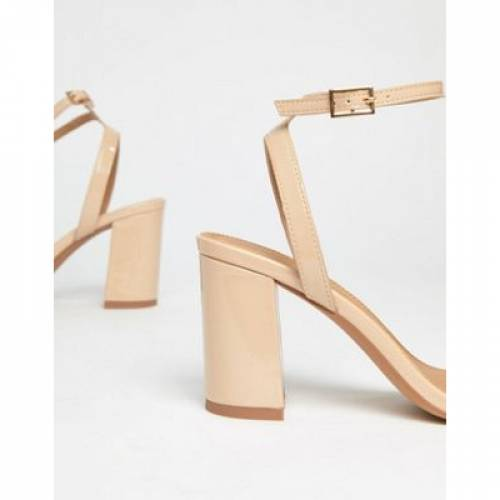 ウォーム 【 ASOS DESIGN HONG KONG BARELY THERE BLOCK HEELED SANDALS IN WARM BEIGE 】