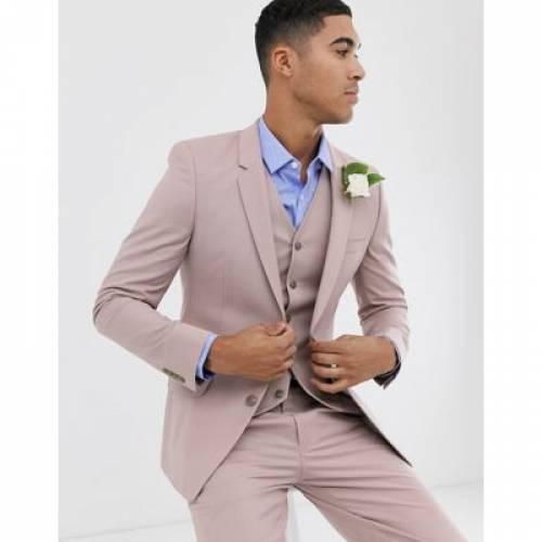 メンズファッション コート ジャケット 【 ASOS DESIGN WEDDING SKINNY SUIT JACKET IN MINK 】 ※セットアップではありません