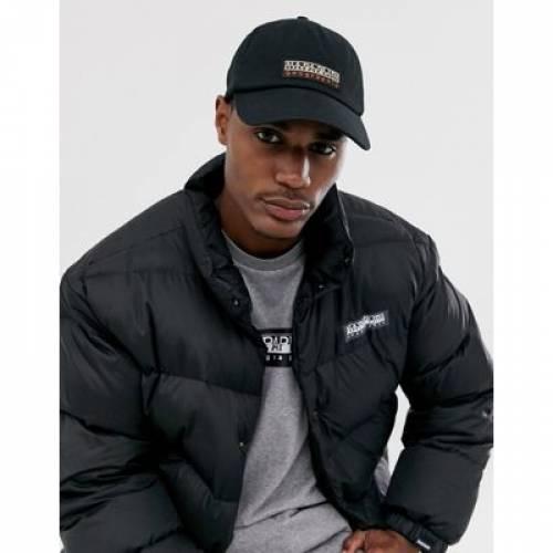 キャップ 帽子 黒 ブラック バッグ メンズキャップ 【 BLACK NAPAPIJRI FASE CAP IN 】