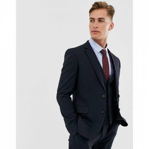 紺 ネイビー メンズファッション コート ジャケット 【 NAVY ASOS DESIGN SKINNY SUIT JACKET IN 】 ※セットアップではありません