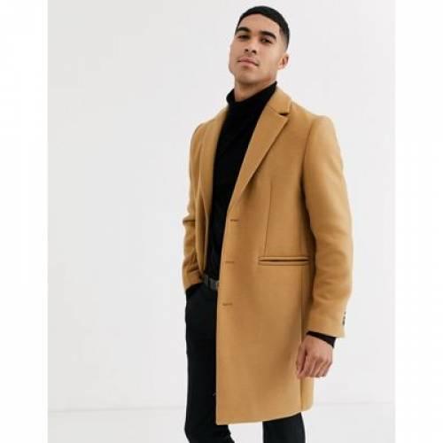 キャメル メンズファッション コート ジャケット 【 CAMEL ASOS DESIGN WOOL MIX OVERCOAT IN 】