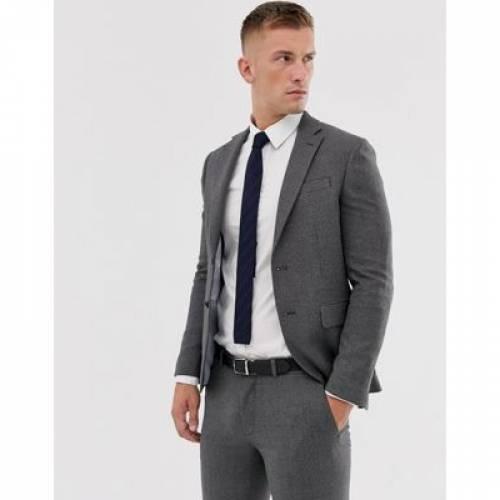 灰色 グレ メンズファッション コート ジャケット 【 MOSS LONDON SUIT JACKET IN GREY 】 ※セットアップではありません