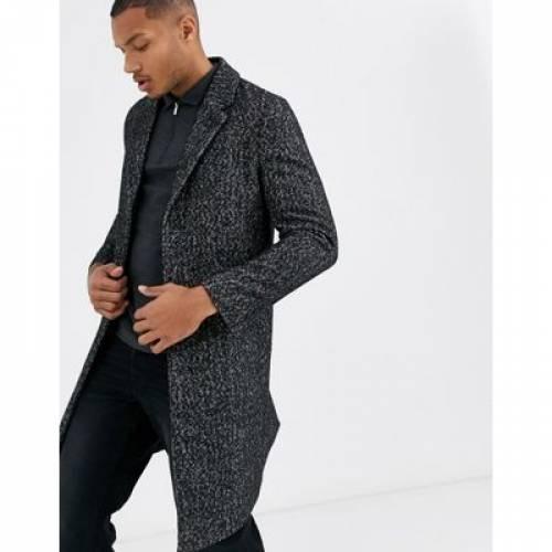 灰色 グレ メンズファッション コート ジャケット 【 TOPMAN HARRINGBONE OVERCOAT IN GREY 】