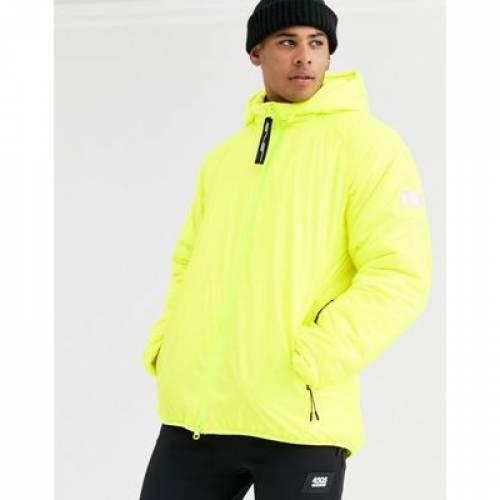 パッド 黄色 イエロー メンズファッション コート ジャケット 【 PADDED YELLOW ASOS 4505 SKI JACKET IN NEON 】