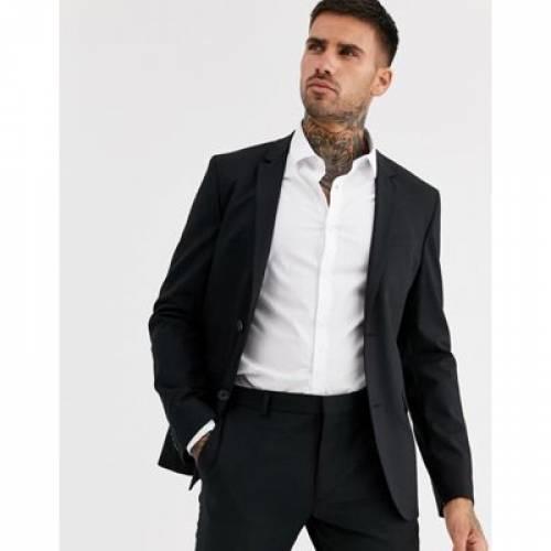 黒 ブラック メンズファッション コート ジャケット 【 BLACK CALVIN KLEIN SUIT JACKET 】 ※セットアップではありません