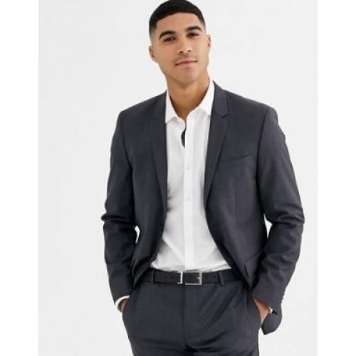 灰色 グレ メンズファッション コート ジャケット 【 CALVIN KLEIN TEXTURED GREY SUIT JACKET 】 ※セットアップではありません