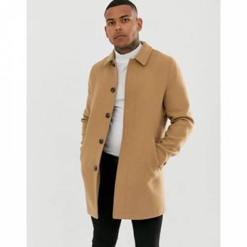 キャメル メンズファッション コート ジャケット 【 CAMEL ASOS DESIGN WOOL MIX COAT IN 】