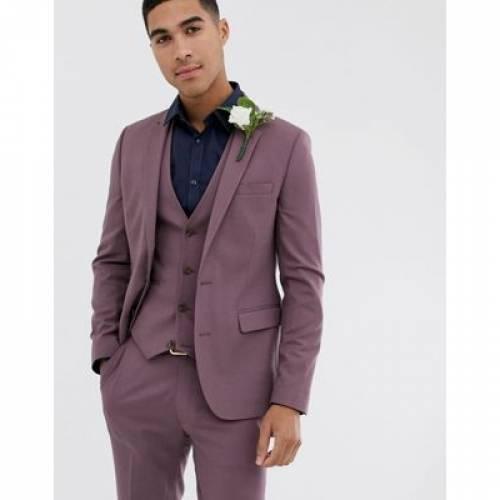 メンズファッション コート ジャケット 【 ASOS DESIGN WEDDING SKINNY SUIT JACKET IN LAVENDER 】 ※セットアップではありません
