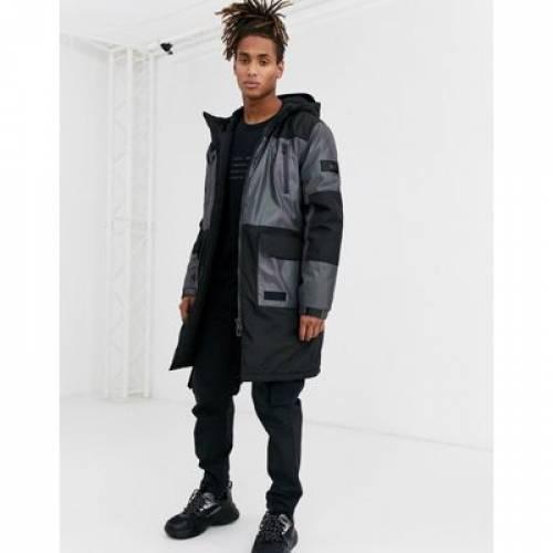エルティーディー 黒 ブラック メンズファッション コート ジャケット 【 LTD BLACK TOPMAN IRREDESCENT PUFFER IN 】