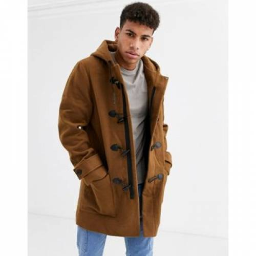 ダッフルバッグ キャメル メンズファッション コート ジャケット 【 CAMEL NEW LOOK DUFFLE COAT IN 】