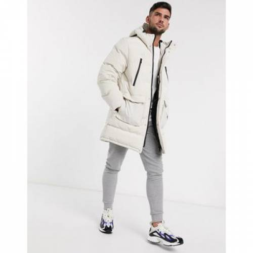 メンズファッション コート ジャケット 【 TOPMAN PUFFER IN ECRU 】