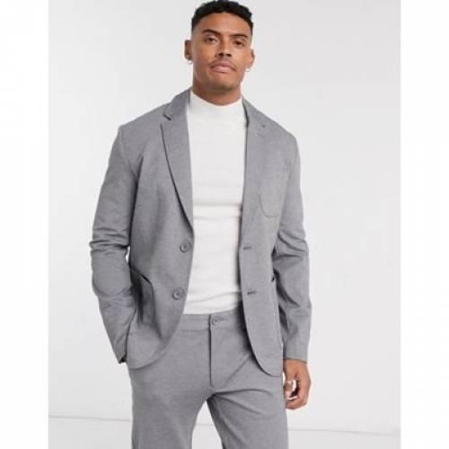 ジャージ 灰色 グレ & メンズファッション コート ジャケット 【 ONLY SONS RELAXED JERSEY SUIT JACKET IN GREY 】 ※セットアップではありません