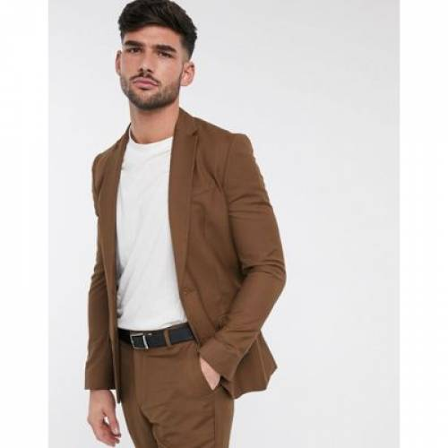 キャメル メンズファッション コート ジャケット 【 CAMEL NEW LOOK SKINNY SUIT JACKET IN DARK 】 ※セットアップではありません