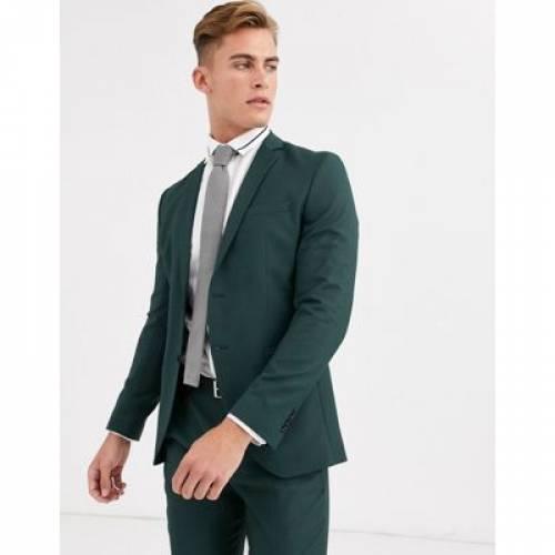 プレミアム スリム 緑 グリーン & メンズファッション コート ジャケット 【 PREMIUM SLIM GREEN JACK JONES FIT SUIT JACKET IN 】 ※セットアップではありません