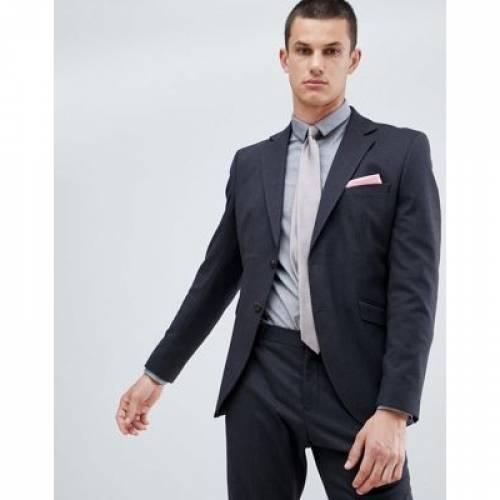 スリム ミクロ メンズファッション コート ジャケット 【 SLIM MICRO SELECTED HOMME SUIT JACKET IN FIT WITH GRID DETAIL 】 ※セットアップではありません