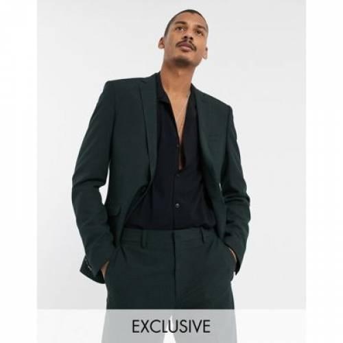 & メンズファッション コート ジャケット 【 HEART DAGGER SUIT JACKET IN MINI CHECK 】 ※セットアップではありません