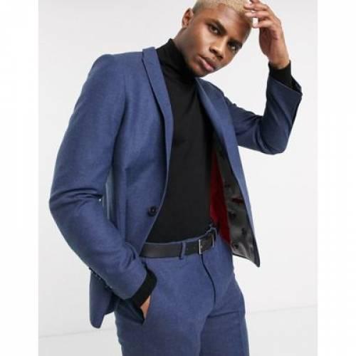 紺 ネイビー メンズファッション コート ジャケット 【 NAVY TWISTED TAILOR TWEED SUIT JACKET IN 】 ※セットアップではありません