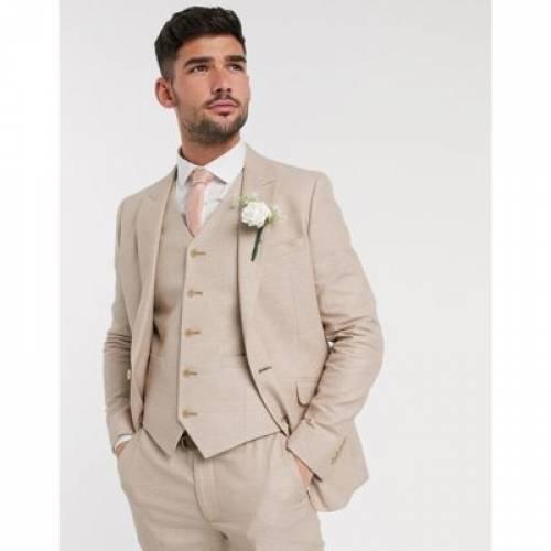 ミクロ テクスチャー キャメル メンズファッション コート ジャケット 【 MICRO CAMEL ASOS DESIGN WEDDING SKINNY SUIT JACKET IN TEXTURE 】 ※セットアップではありません