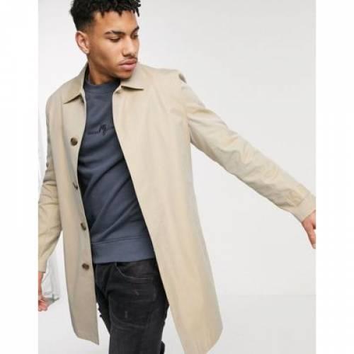 メンズファッション コート ジャケット 【 RIVER ISLAND CAR COAT IN STONE 】