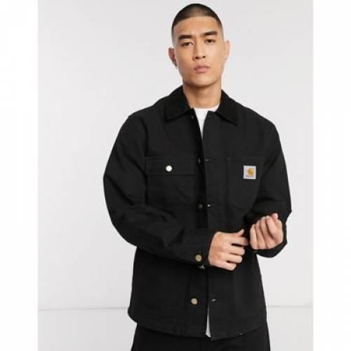 ミシガン 黒 ブラック メンズファッション コート ジャケット 【 BLACK CARHARTT WIP MICHIGAN COAT IN 】