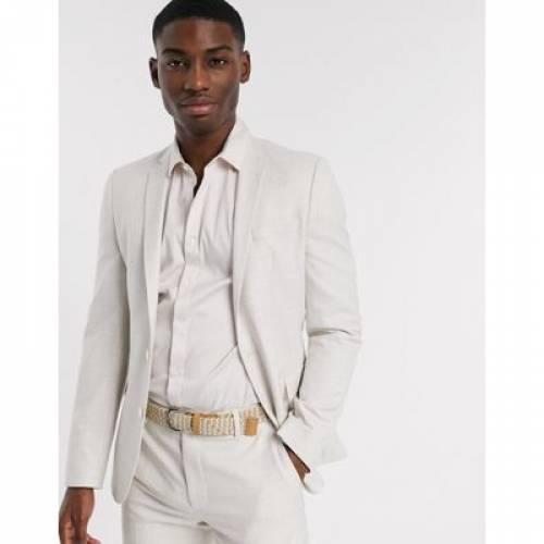 灰色 グレ メンズファッション コート ジャケット 【 ASOS DESIGN SKINNY SUIT JACKET IN ICE GREY 】 ※セットアップではありません