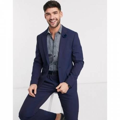 青 ブルー 紫 パープル メンズファッション コート ジャケット 【 BLUE PURPLE ASOS DESIGN WEDDING SKINNY SUIT JACKET IN AND TONIC 】 ※セットアップではありません