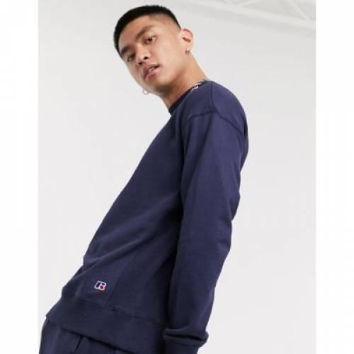 その他ファッションブランド カジュアル ファッション そのた ラッセル スウェットシャツ トレーナー ロゴ 紺色 ネイビー メンズファッション LOGO RUSSELL 販売実績No.1 FRANK ATHLETIC スウェット IN 低価格化 SWEATSHIRT SMALL トップス WITH NAVY