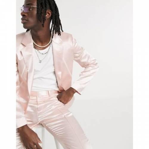 スリム ハイ 白 ホワイト メンズファッション コート ジャケット 【 SLIM WHITE ASOS DESIGN SUIT JACKET IN STONE HIGH SHINE WITH PIPING 】 ※セットアップではありません