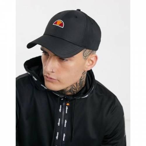 ロゴ キャップ 帽子 黒 ブラック バッグ メンズキャップ 【 BLACK ELLESSE CALLO LOGO CAP IN 】