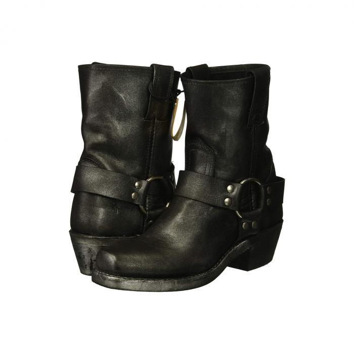 FRYE レディース 【 Harness 8r 】 Black Multi Metallic Oiled Leather
